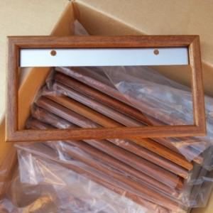 Several Wood License Plate Frames