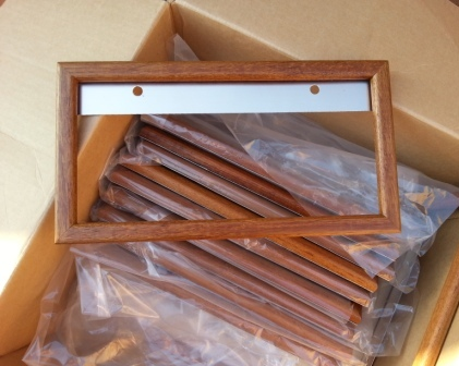 Several Wood License Plate Frames