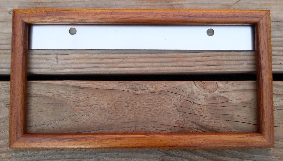 single wood license plate frame