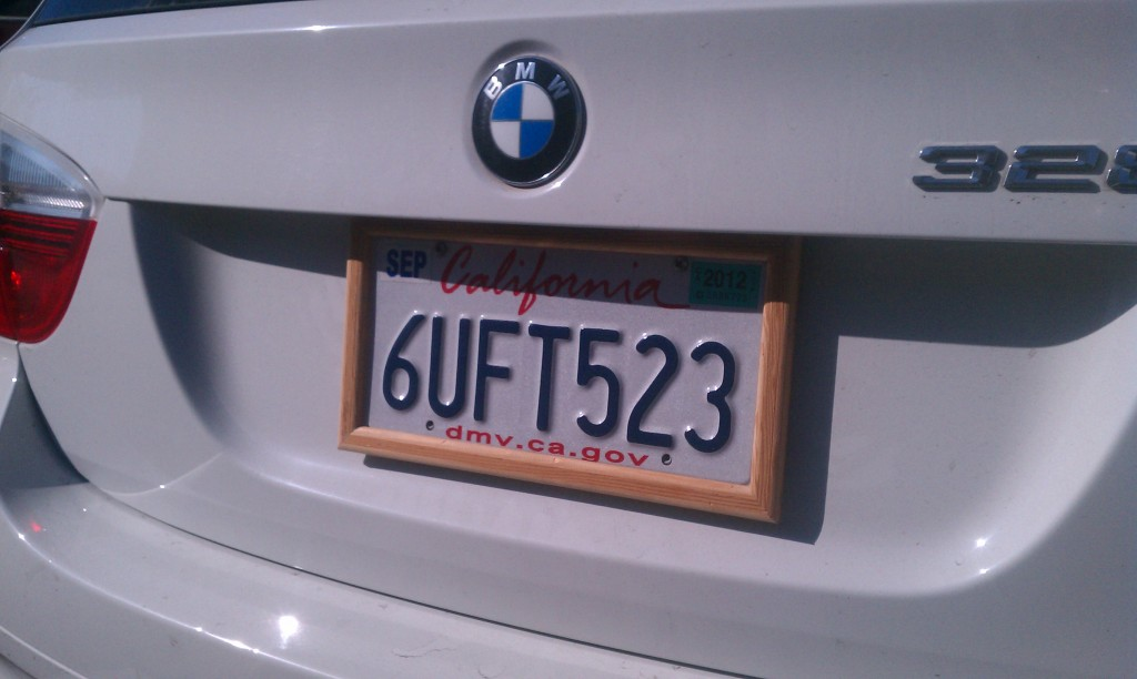 Prototype Wood License Plate Frame