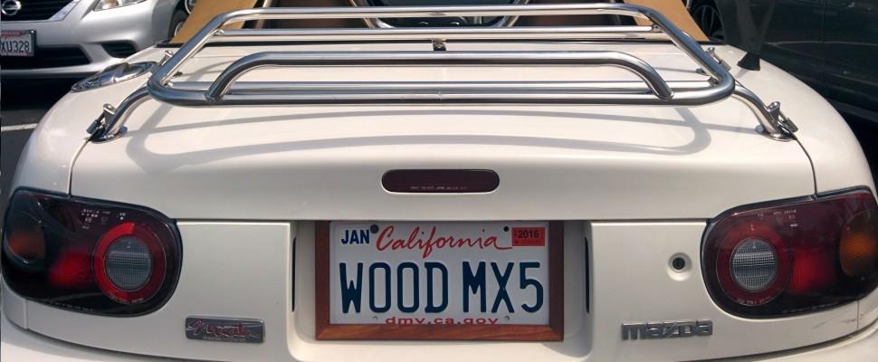 Dillon's Wood License Plate Frame MX-5 Miata